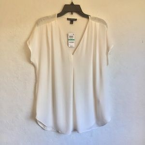 Inc International Concepts White Pleated Top 0X